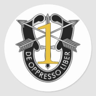 1st Special Forces Group Crest Classic Round Sticker