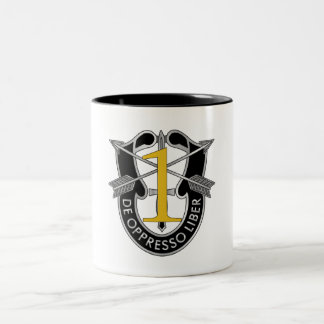 1st Special Forces Group Crest Two-Tone Coffee Mug