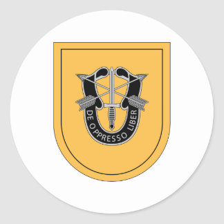 1st Special Forces Group Flash Classic Round Sticker
