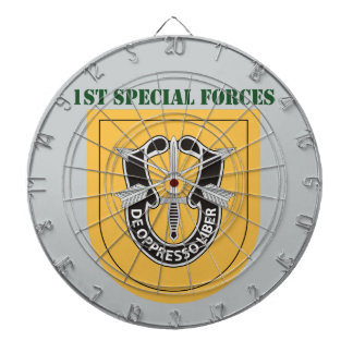 1st Special Forces Group With Text Dartboard With Darts