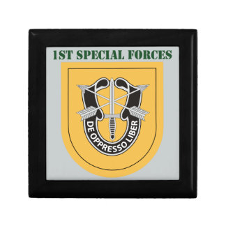 1st Special Forces Group With Text Keepsake Box