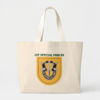 1st Special Forces Group With Text Large Tote Bag