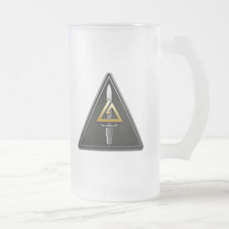 1st Special Forces Operational Detachment-Delta Frosted Glass Beer Mug