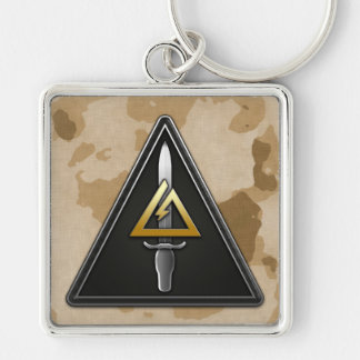 1st Special Forces Operational Detachment-Delta Silver-Colored Square Keychain