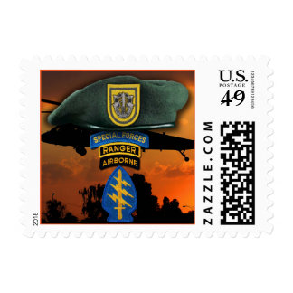 1st Special Forces veterans Green Berets SF SOF Postage