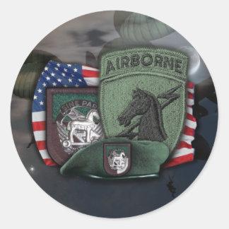1st Special operations command socom ussocom Stick Classic Round Sticker