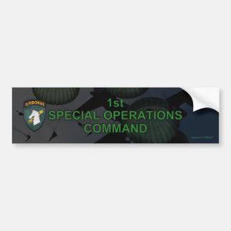 1st special ops usacapoc patch Bumper Stick Bumper Sticker