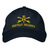 1st Sqdn., 10th Cavalry Embroidered Hat