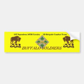 1ST Squad 10TH Cav 2D BCT 4TH Inf Bumper Sticker Car Bumper Sticker