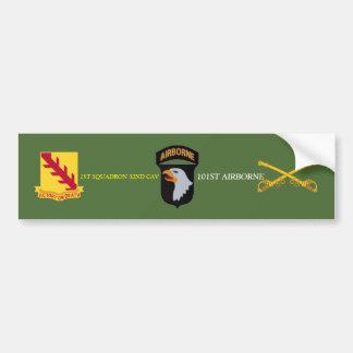 1ST SQUADRON 32ND CAVALRY 101ST ABN BUMPER STICKER