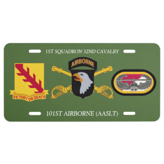 1ST SQUADRON 32ND CAVALRY 101ST ABN LICENSE PLATE