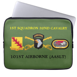 1ST SQUADRON 32ND CAVALRY 101ST LAPTOP SLEEVE