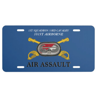 1ST SQUADRON 33RD CAVALRY 101ST ABN LICENSE PLATE