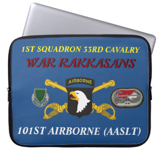 1ST SQUADRON 33RD CAVALRY 101ST LAPTOP SLEEVE