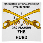 1st Squadron  61st Cavalry Regiment, ... Posters