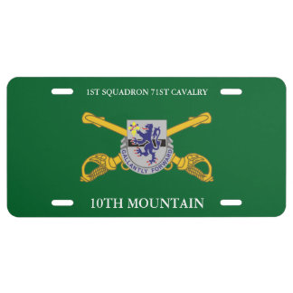 1ST SQUADRON 71ST CAV 10TH MOUNTAIN LICENSE PLATE