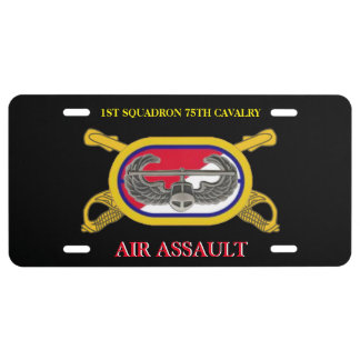 1ST SQUADRON 75TH CAVALRY 101ST ABN LICENSE PLATE