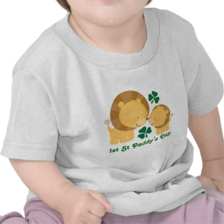 1st St Paddy's Day Irish Baby Lion Shamrock Tee