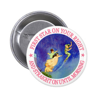 1ST STAR ON YOUR RIGHT, STRAIGHT ON UNTIL MORNING PINBACK BUTTON