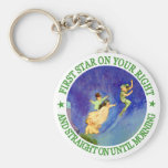1ST STAR ON YOUR RIGHT, STRAIGHT ON UNTIL MORNING KEYCHAINS
