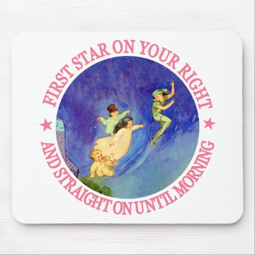 1ST STAR ON YOUR RIGHT, STRAIGHT ON UNTIL MORNING MOUSEPAD