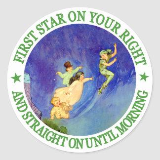 1ST STAR ON YOUR RIGHT, STRAIGHT ON UNTIL MORNING STICKER