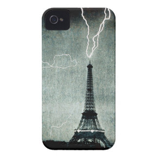 1st Strike - Lightning hits Eiffel Tower 1902 iPhone 4 Case-Mate Case