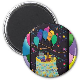 1st surprisepartyyinvitationballoons copy 2 inch round magnet