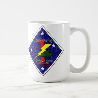 1st Tank Battalion - 1st Marine Division Classic White Coffee Mug