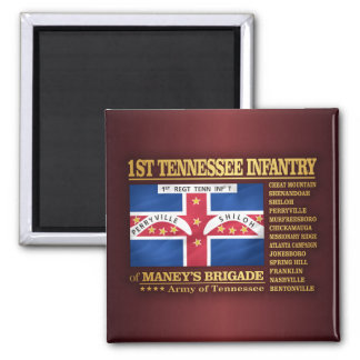 1st Tennessee Infantry (BA2) 2 Inch Square Magnet