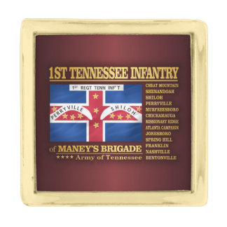 1st Tennessee Infantry (BA2) Gold Finish Lapel Pin