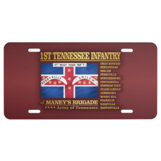 1st Tennessee Infantry (BA2) License Plate