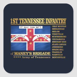 1st Tennessee Infantry (BA2) Square Sticker
