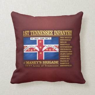 1st Tennessee Infantry (BA2) Throw Pillow