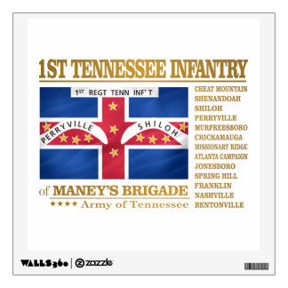 1st Tennessee Infantry (BA2) Wall Sticker