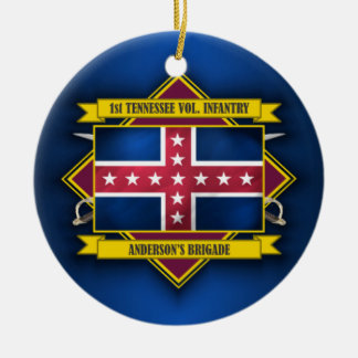 1st Tennessee Infantry Ceramic Ornament