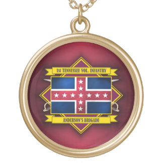 1st Tennessee Infantry Gold Plated Necklace