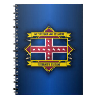 1st Tennessee Infantry Spiral Notebook
