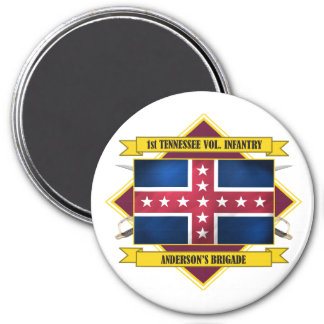 1st Tennessee Volunteer Infantry (Flags 3) 3 Inch Round Magnet