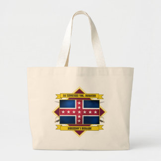 1st Tennessee Volunteer Infantry (Flags 3) Large Tote Bag