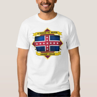 1st Tennessee Volunteer Infantry (Flags 3) T Shirt