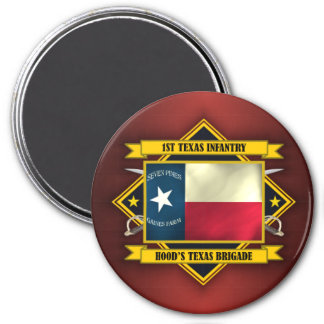 1st Texas Infantry 3 Inch Round Magnet