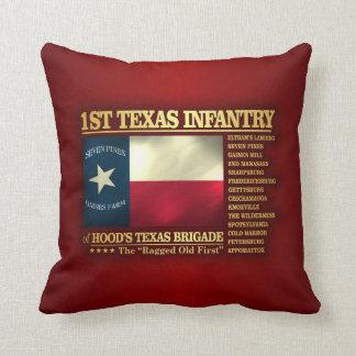 1st Texas Infantry (BA2) Throw Pillow