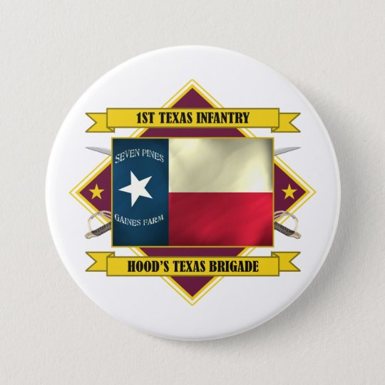 1st Texas Infantry (Flags 3) Button