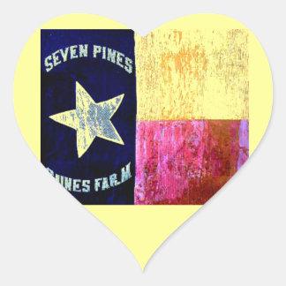 1st Texas Infantry, Hood's Brigade, Lone Star Flag Heart Sticker
