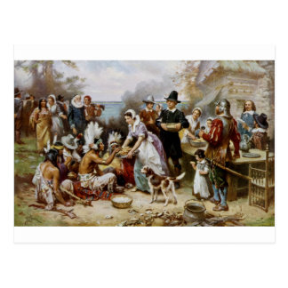 1st thanksgiving postcard