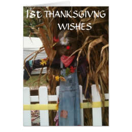 1st THANKSGIVING WISHES Card