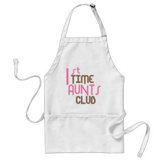 1st Time Aunts Club (Pink) Adult Apron