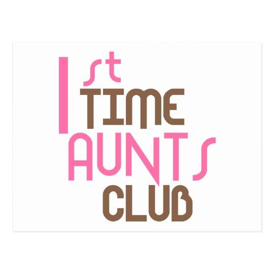 1st Time Aunts Club (Pink) Postcard