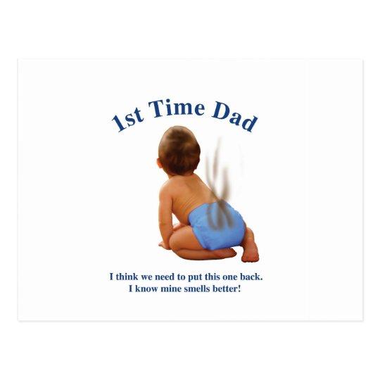 1st time Dad Postcard